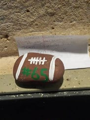 A San Angelo couple found this rock from the Texas Traveling Rocks group at a museum in San Angelo.