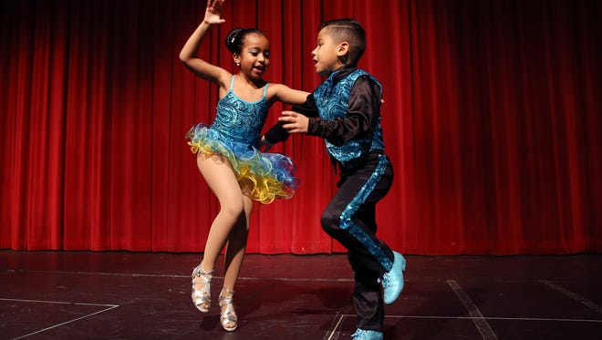JP & Allyson's, Allyson Ramirez and JeanPaul Solano perform during the Morris Educational Foundation Media Day at Morristown High School for its 9th annual Morristown Talent Show renamed Morristown ONSTAGE. The event will take place on February 24, 2016 at the Mayo Performing Arts Center. January 9, 2016, Morristown, NJ.