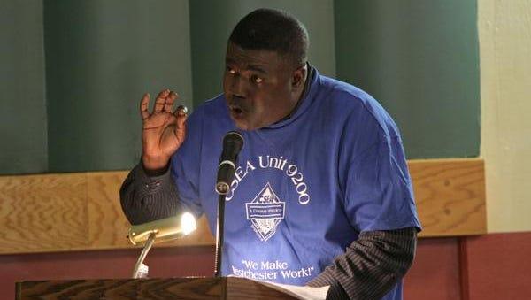 Westchester County CSEA 9200 union President Kwabena Manu of Yonkers.