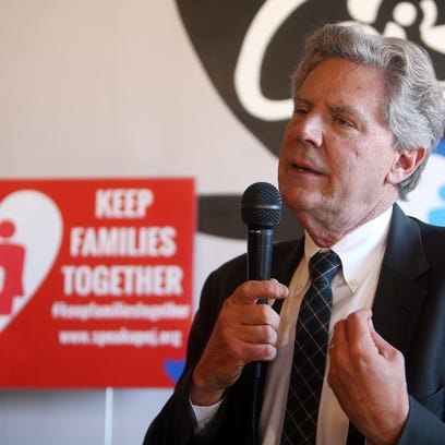 Congressman Frank Pallone speaks during a news conference