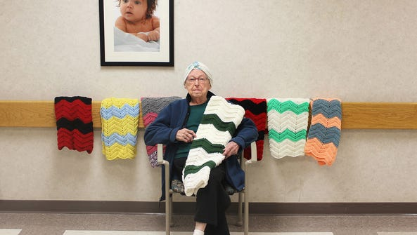 On March 30, Marcella Jones donated her 100th blanket