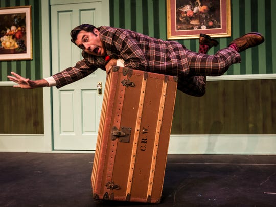 """Michael Bernard stars in Santa Barbara City College's production of """"One Man, Two Guvnors"""" on stage through Oct. 28 at the Garvin Theatre in Santa Barbara."""