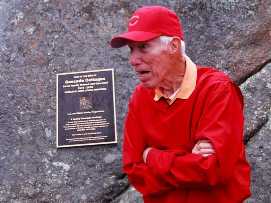 A plaque was recently installed to celebrate the history of the Cascade Cottages property within Rocky Mountain National Park.