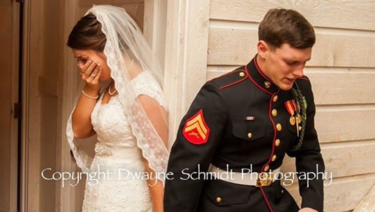 Moment before N.C. couple's wedding