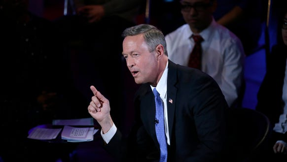 Former Maryland governor Martin O'Malley makes a point