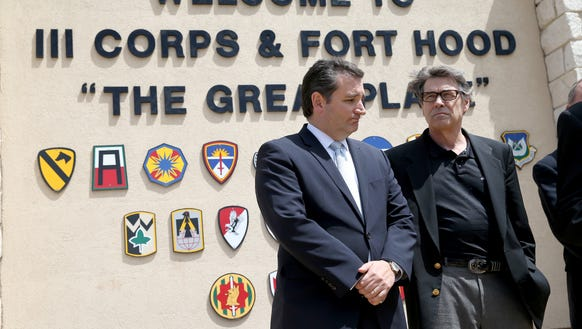 Rick Perry and Ted Cruz in 2014.