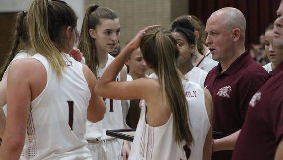 Somers takes on Albertus Magnus in girls basketball