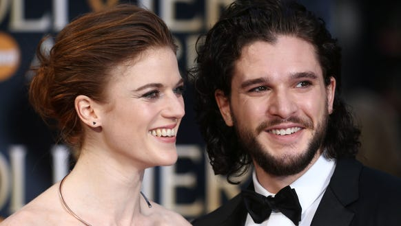 'Game Of Thrones' Couple Kit Harington, Rose Leslie Go Red