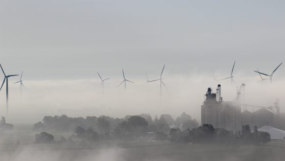 Alliant Energy's wind farm in Franklin County.