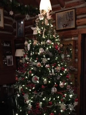 The Wood family Christmas tree made its way to their Pine Point cabin.