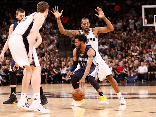 NBA: Playoffs-Memphis Grizzlies at San Antonio Spurs