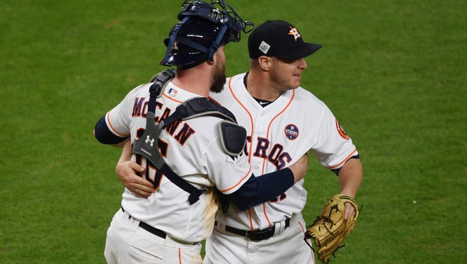 Like Lance McCullers in Game 7 of the ALCS, Brad Peacock took the ball in relief and didn't give it up, this time nailing down a Game 3 World Series win.