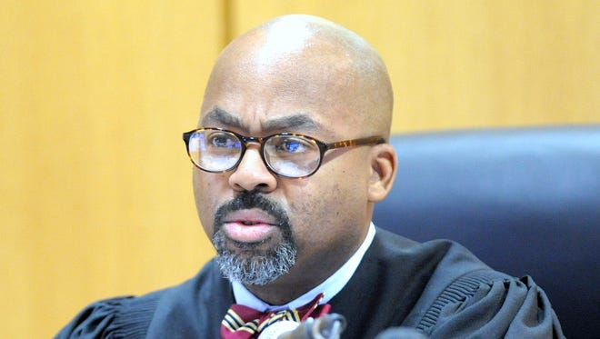 36th District Court Judge William McConico hears a case at Frank Murphy Hall of Justice in Detroit earlier this year.