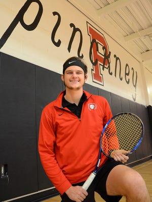 Pinckney senior Adam Caplin is the 2017 Boys Tennis Player of the Year.