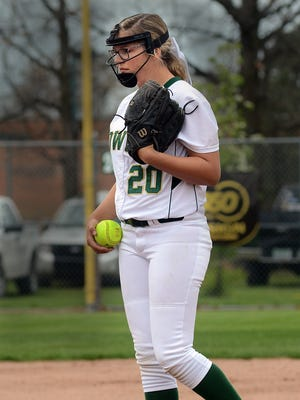 Howell freshman Molly Carney will try to pitch Howell into the quarterfinals on Saturday.
