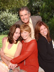 MacKenzie Phillips (left), Bonnie Franklin (center),