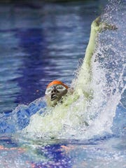Mountain Lakes senior Matt Luciano swims the 100-yard