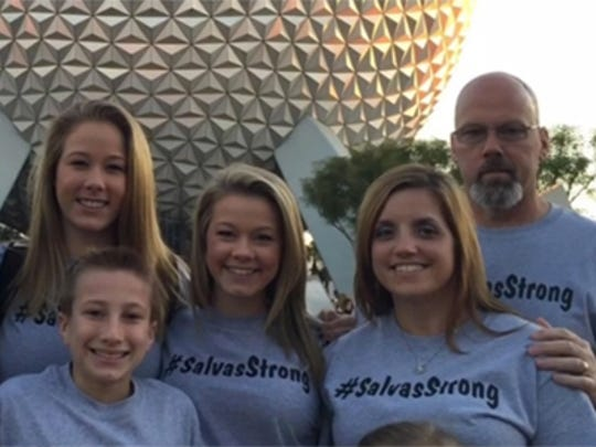 The Salvas family promotes #SalvasStrong in support