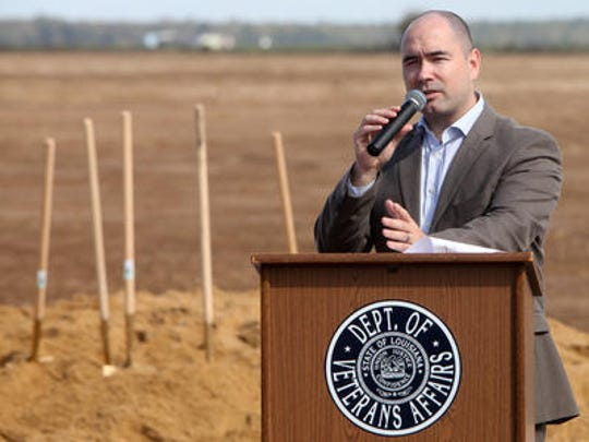 Former Louisiana Department of Veterans Affairs Secretary David LaCerte speaks during the 2014 groundbreaking ceremony of the Northeast Louisiana Veterans Cemetery near Rayville. Former Louisiana Department of Veterans Affairs Secretary David LaCerte speaks during the 2014 groundbreaking ceremony of the Northeast Louisiana Veterans Cemetery near Rayville.