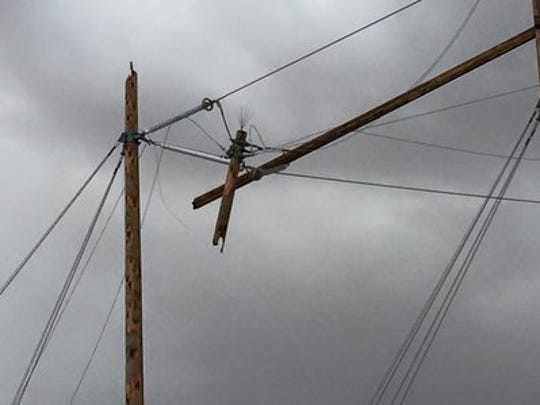 Broken power lines may pose a danger to residents during a thunderstorm, and officials recommend steering clear of any broken power lines.