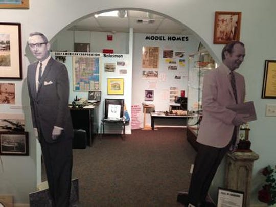 The Cape Coral Historical Museum has a number of themed displays depicting the city's history, such as this room representing the land sales office at Gulf American Land Corporation, the developer of Cape Coral.