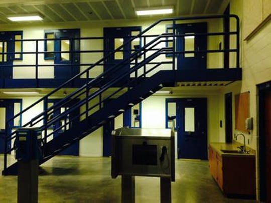 This is the cell block in the Polk County Jail where