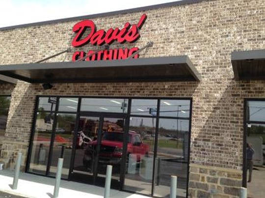 Davis' Clothing opened June 1, at 562 W. Church St., in Lexington.