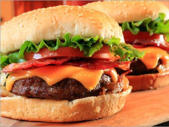 The bacon and cheddar MelBurger at the Original Mel's.