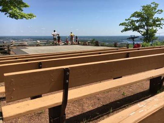 On of the main attractions at the park is a 200-seat amphitheater constructed by the Friends of Rib Mountain State Park.