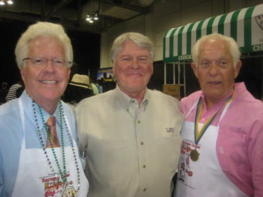Andy Shehee, Larry Higdon and Billy Montgomery share a moment.