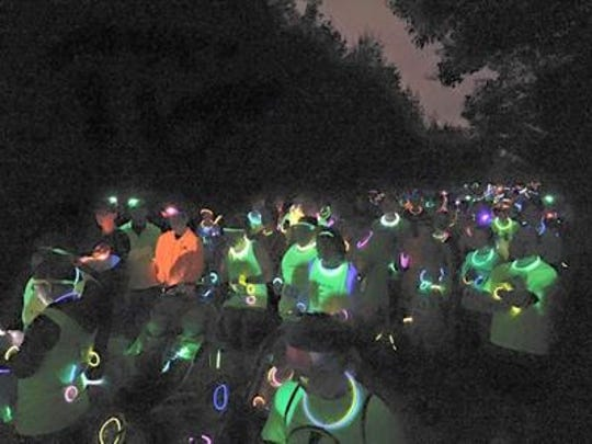 The 2015 Ted's Trek glow run attracted about 500 runners and walkers.