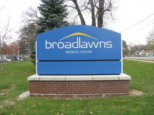 Broadlawns Medical Center sign.