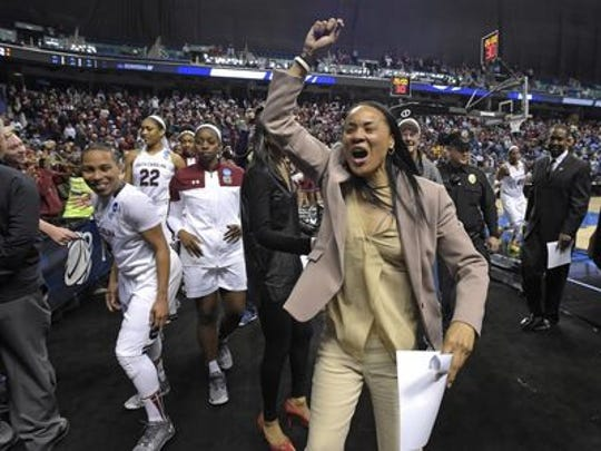 South Carolina Coach Dawn Staley is hoping to guide her Gamecocks to a third consecutive SEC Tournament title.