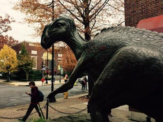 Haddonfield's dinosaur district could play a role in the borough's July 4th parade, if columnist Jim Walsh gets his way.
