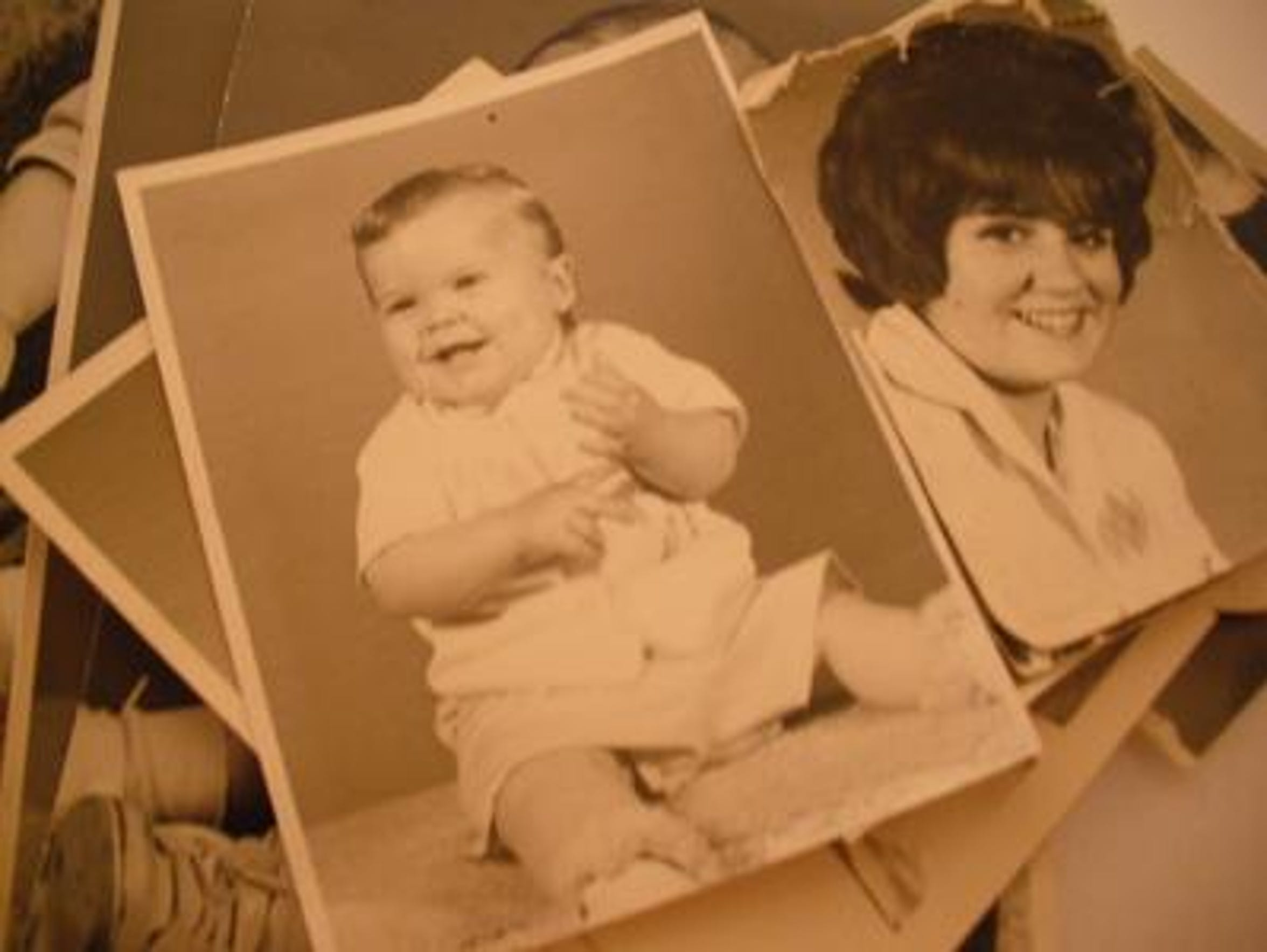 Undated photos of Jimmy Stellflug and his mother Mary