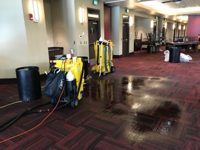 Burst pipes in a Chase Field air-conditioning system