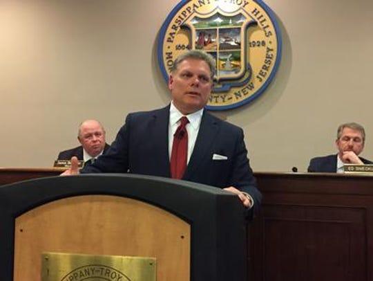 Parsippany municipal Counsel John Inglesino speaks