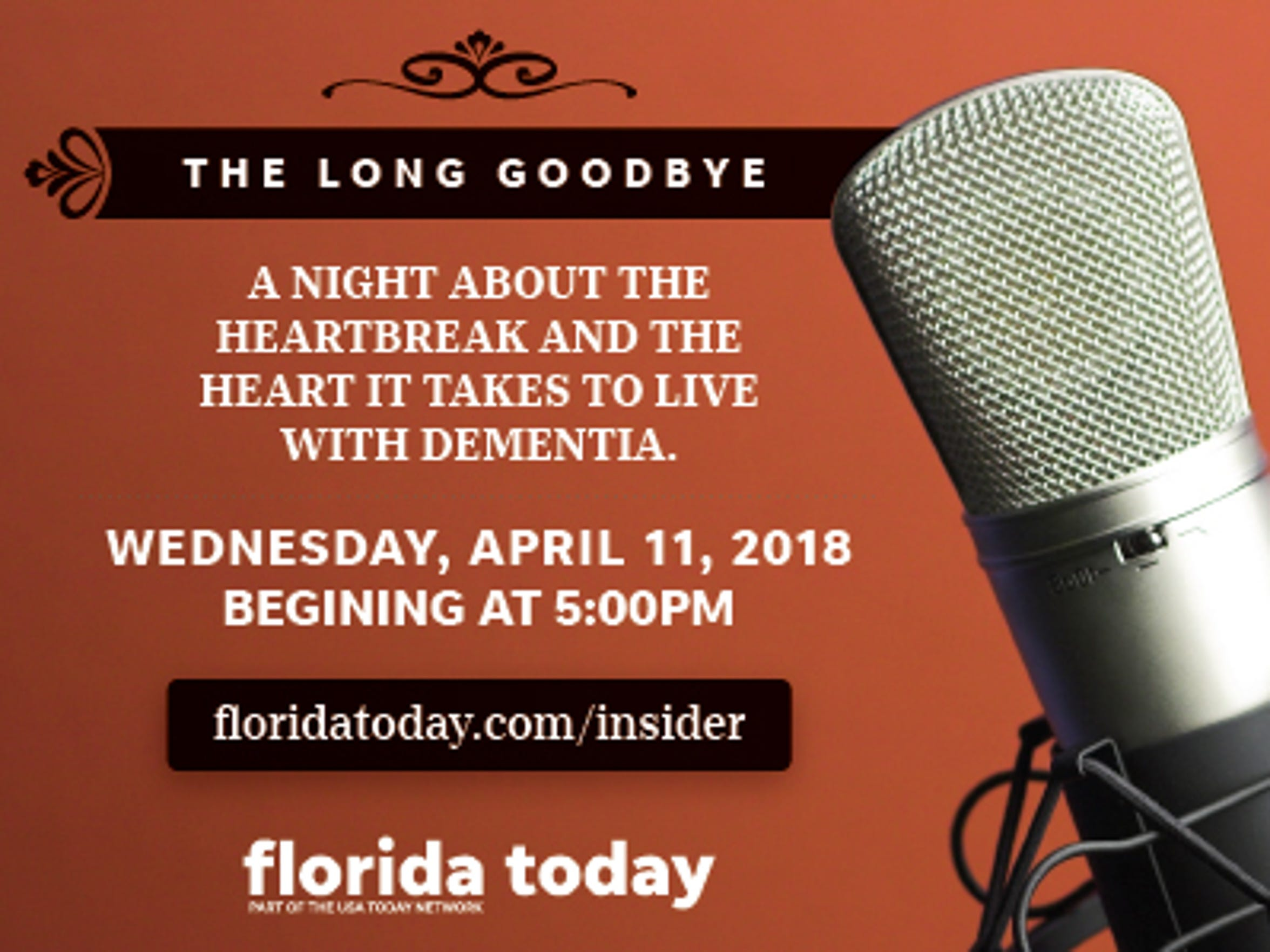 Join FLORIDA TODAY's Britt Kennerly at an exclusive event to discuss The Long Goodbye. Visit floridatoday.com/insider register.