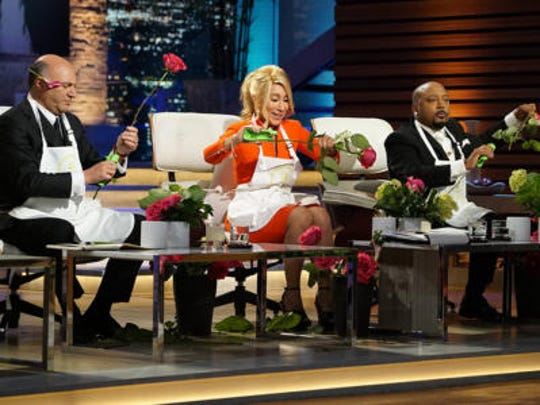 """Shark Tank"" investors play with flowers for Alice's Table."