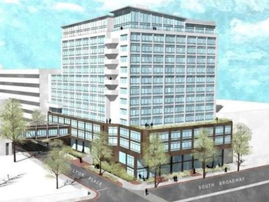 Rendering of luxury rental apartment plan for former