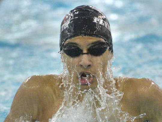 One of many versatile swimmers for Plymouth's 2014-15 team is junior Aniketh Visai.
