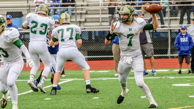 Howell quarterback Ryan Brennan was 23-for-43 for 299 yards, 1 touchdown and 1 interception in a 49-17 loss to Detroit Catholic Central.