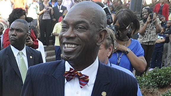 Rep. Oliver Robinson, D-Birmingham, on Wednesday, March 21, 2012. (Montgomery Advertiser, Mickey Welsh)