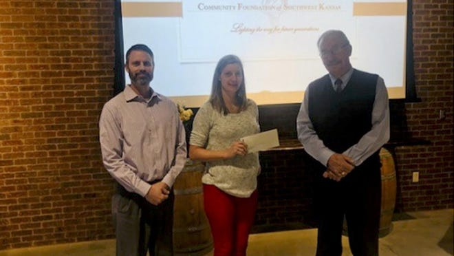 The Dodge City Family YMCA received a $25,000 grant for its after-school program from the Community Foundation of Southwest Kansas recently.