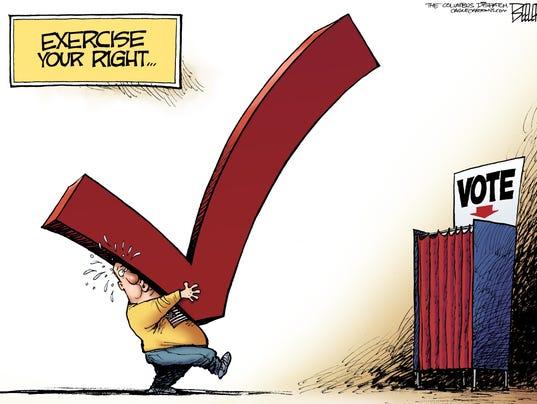 Generic voting cartoon