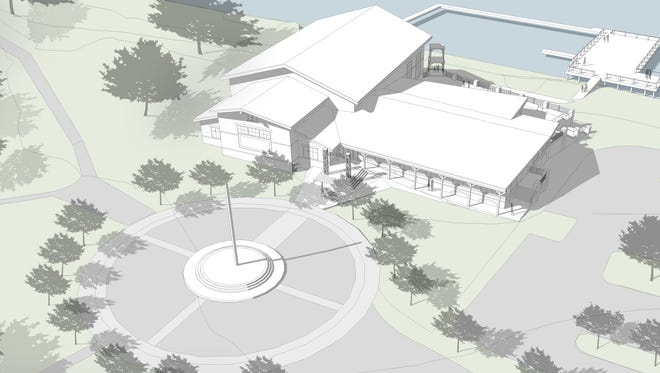 A conceptual design from Caldwell Associates Architects shows what the new Bayview Community Center could look like.