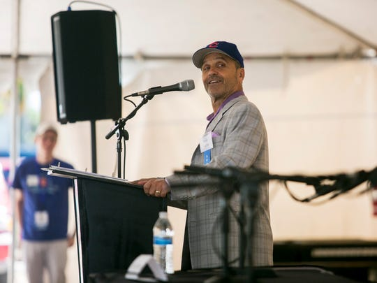 Author Scott Turow speaks to a large group at the Southwest Florida Reading Festival on Saturday, March 3, 2018, in downtown Fort Myers.