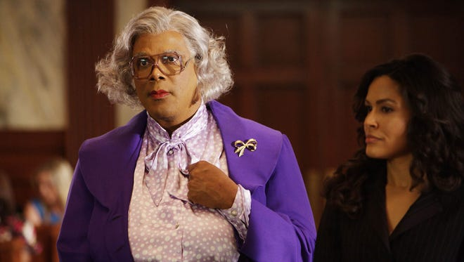 """Tyler Perry, pictured here as Madea the movie """"Tyler Perry's Madea Goes to Jail,"""" will star as Madea in the stage production """"Tyler Perry's Medea on the Run"""" at the Auditorium Theatre."""