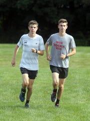 Twins Matt and Greg Fusco, members of the Somers High