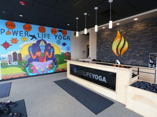 Power Life Yoga opened its first studio in West Des Moines in 2012. It's downtown location, 1717 Ingersoll Ave., shown here, opened in 2013. The company now has four locations in the Des Moines metro area.